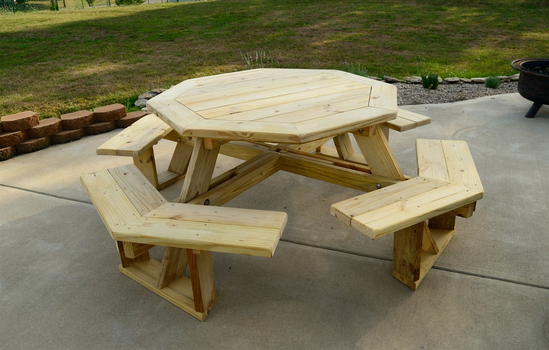 Large Octagonal Picnic Table